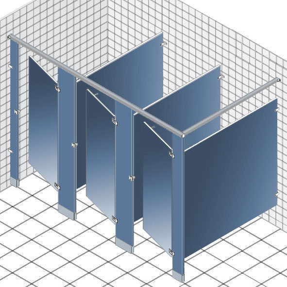 Solid Phenolic Restroom Partitions And Shower Stalls HarborCitySupply - Partitions for bathroom stalls